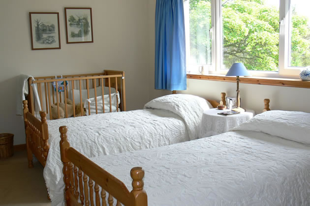 Family bedroom in our bed and breakfast in Caithness